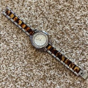 Premier Designs tortoiseshell and silver watch
